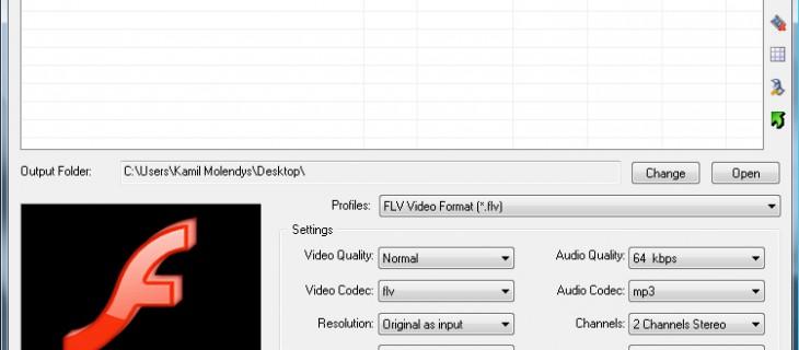 Convertire i file flash video in avi, wmv e mpeg