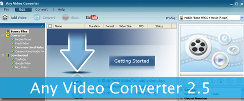 Any Video Converter 2.5