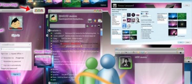 Raccolta di skin gratuite per Windows Live Messenger