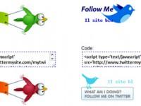 Creare dei bottoni Follow Me per Twitter