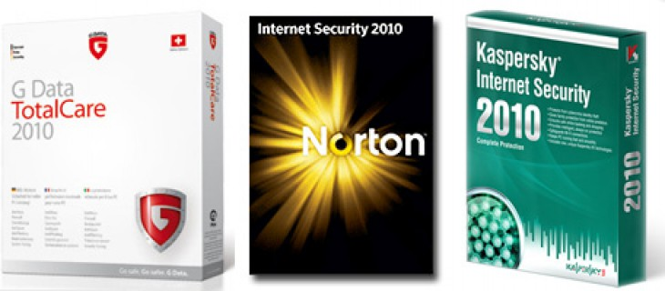 Migliori antivirus per il 2010: Gdata Total Care 2010, Kaspersky Internet Security 2010 e Norton Internet Security 2010