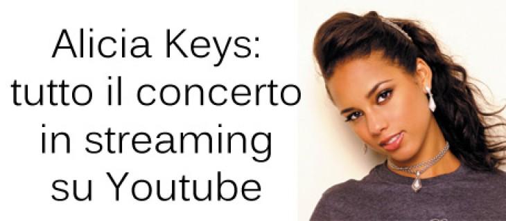 Concerto di Alicia Keys a New York in streaming   Video YouTube
