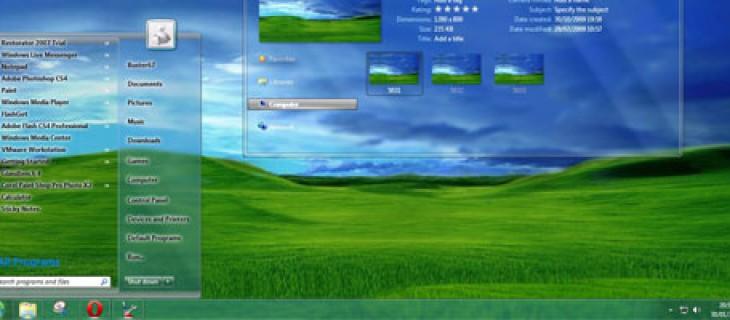 Tema trasparente per Windows 7