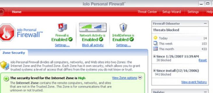 iolo Personal Firewall: protezione firewall per Windows