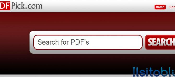 PDFPick, motore di ricerca di file PDF