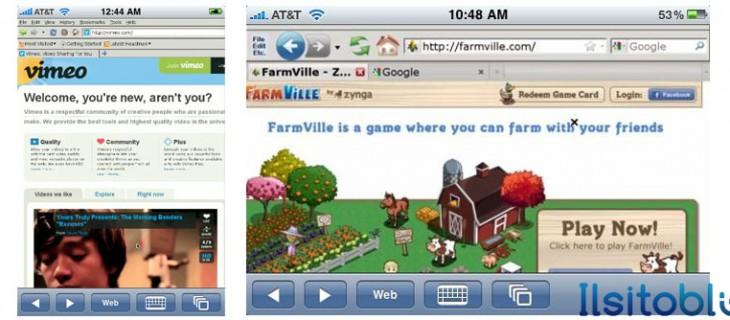 Supporto flash su iPhone, iPod e iPad con Cloud browse