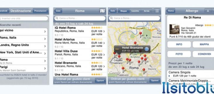 ToucHotel: applicazione gratuita per prenotare hotel da iPhone