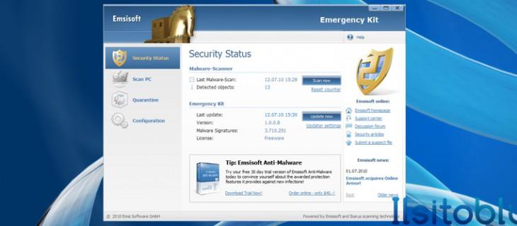 Emsisoft Emergency Kit: antispyware e antivirus gratis
