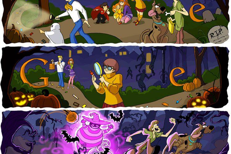 Felice halloween con scooby doo