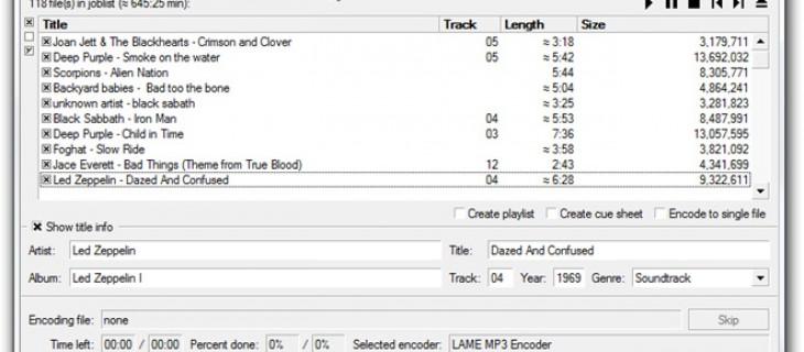 Convertire MP3, MP4, M4A, WMA, Ogg Vorbis, FLAC, AAC, WAV gratis e rippare audio da CD