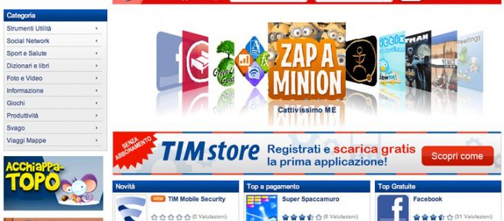 Arriva l'app store di Telecom Italia: Tim Store