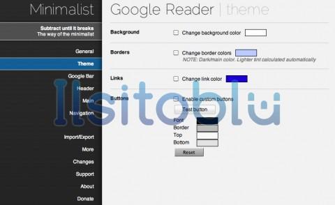 Minimalist for Google Reader