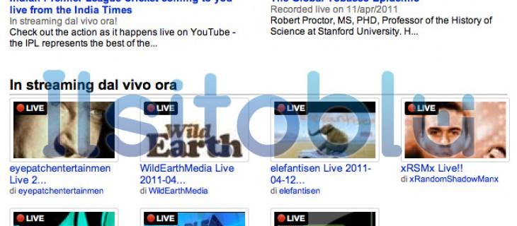 YouTube live streaming per i partner selezionati