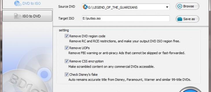 Creare backup di DVD in ISO con BDlot DVD ISO Master