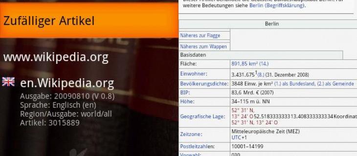Wikipedia offline su Android con Wikidroyd